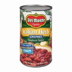 Del Monte Italian Herb Chunky Spag. Sauce