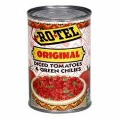 Rotel Diced Tomatoes and Green Chilies.