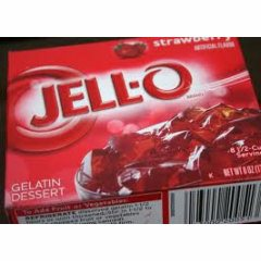 Strawberry Jell-O (not pre-made)