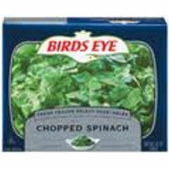 Chopped Leaf Spinach.