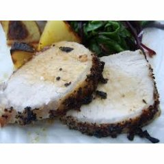 Roasted Pork Loin with Cracked Pepper Crust