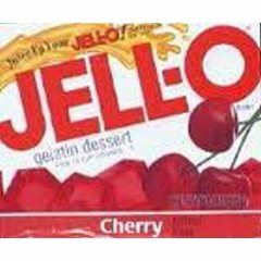 Cherry Jell-O (not pre-made)