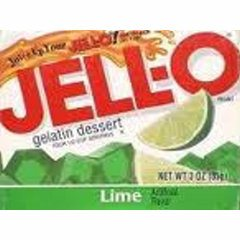 Lime Jell-O (not pre-made)