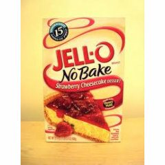 Jell-O No BakeStrawberry Cheesecake