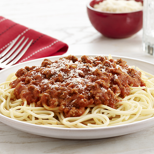 Homemade spaghetti meat sauce